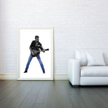 George Michael, Musician Singer Songwriter, Decorative Arts, Prints & Posters, Wall Art Print, Poster Any Size - Black and White Poster